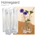 ホルムガード ガラス 花瓶 花器 クロス フラワーベース 18cm クリアー H18 4343832 Holmegaard