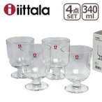 イッタラ レンピ グラス 4個セット 340ml クリアー