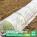 【送料無料】daimトンネル支柱 おてがる君 ポリシート 75cm×210cm×40cm 5個入