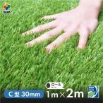 まるで本物のような質感 ふかふかで気持ちがいい人工芝 芝丈30mm 1m 2m リアル人工芝 DAIM マット ロール式 芝生