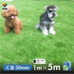 人工芝 C型 芝丈30mm 1m×5m  リアル人工芝 DAIM マット ロール式 芝生