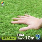 人工芝 ダイム リアル 細芝タイプ 35mm ロール巻 ふわふわな手触りにこだわった質感  人工芝 ドッグラン ロール式 グリーン 庭 FIFA認定工場製造品  幅1m 長さ10m