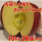 リンゴ フジ 秋田県産 贈り物 贈答 お歳暮   佐藤くん家のおいしいリンゴ 10kg 28個入り 送料無料
