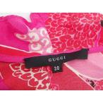 GUCCI グッチ シルク ワンピース フリル 長袖 サイズ38 レッド 中古B+ 【送料無料】 A-6587