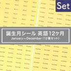台紙用シール 誕生月12カ月セット 英語10×5mm 600枚 クリア