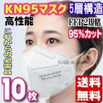 全国送料無料 KN95 高性能マスク 10枚 カラー/白  イヤーマウント レスピレーター N95マスク同等品 プロフェッショナルプロテクション