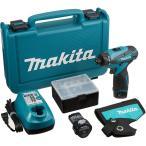 【送料無料】 マキタ 充電式ドライバドリル 10.8V 1.3Ah バッテリー2個付き DF030DWX