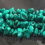 天然石 パワーストーン ビーズ 「ターコイズ(天然/固定化)」 さざれ 約2-3x5-8mm 1連(約86-90cm)