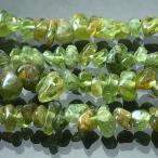 天然石 パワーストーン ビーズ 「ペリドット(天然)」 さざれ 約4-11mm 1連(約38-40cm)