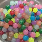 『4パック分おまとめセット』 ガラス ビーズ 天然石風ジェイド丸玉ミックス 約4mm (約23g)