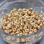 丸小ビーズ 「ゴールド(24K)」 高品質日本製丸小ビーズ 約1.9mm 約650ヶ(約10g)