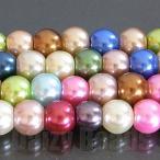 天然石 ビーズ ミックス 「グラス パール ミックス」 約6mm 1連(約38-40cm)(サイズが均等でないため)