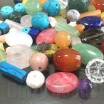 天然石 パワーストーン ビーズ 「訳あり天然石ビーズセット」 デザインミックス 約4-14mm (約40g)