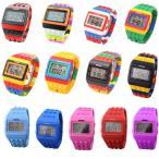 Yahoo!DaMiNEW COLOR入荷 カラフル ウォッチ 腕時計 LED ユニセックス メンズ レディース 20色 スポーツ キッズ用にもおすすめ