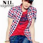 【NII 】 ジェジュン JEJUNG着用 ドラバプリント NII 半袖Tシャツ メンズファッション メンズ、レディース T-シャツ