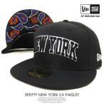 ニューエラ NEW ERA ベースボールキャップ 59FIFTY NEW YORK アンダーバイザー ペイズリー 黒 ブラック 2016秋冬新作