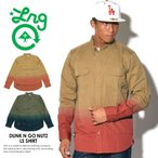 LRG エルアールジー ミリタリーシャツ メンズ 長袖 カジュアルシャツ 大きいサイズ DUNK N GO NUTZ LS SHIRT