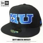 ニューエラ ベースボールキャップ メンズ 帽子 コラボ NEW ERA 59FIFTY MONSTERS UNIVERSITY モンスターズ・ユニバーシティ MUロゴ 2017 秋冬 新作