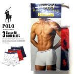 ポロ ラルフローレン Polo Ralph Lauren ボクサーパンツ メンズ 3枚セット USAモデル おしゃれ ホワイト/レッド/ネイビー 3 CLASSIC FIT COTTON BOXER BLIEFS