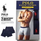 ポロ ラルフローレン Polo Ralph Lauren ボクサーパンツ メンズ 2枚セット USAモデル おしゃれ ネイビー SUPREME COMFORT 2 BOXER BLIEFS
