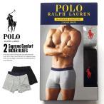 ポロ ラルフローレン Polo Ralph Lauren ボクサーパンツ メンズ 2枚セット USAモデル おしゃれ グレー/ブラック SUPREME COMFORT 2 BOXER BLIEFS
