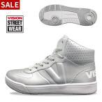 ダンスシューズ スニーカー レディース メンズ ヒップホップ 黒 白 赤 銀 VISION ビジョン 靴 VSW-7111