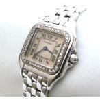 カルティエ サントスドゥモワゼル 18KWG ダイヤ シェル ブランドウォッチ レディースクォーツ 腕時計