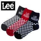 ソックス メンズ 3足組 靴下 スニーカーソックス セット リー Lee おしゃれ ブランド 福袋 25〜27センチ 男性