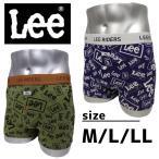 ボクサーパンツ ブランド リー パンツ メンズ インナー 下着 Lee 前開き 1P ランダムロゴBB M L LL 3L 4L 5L 6L プレゼント おしゃれ