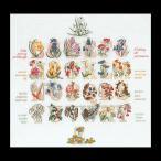 �ƥ��������٥�̡��롡�������ƥå��ɽ����å� ��Floral Alphabet �����ԡ����Ը��� ���������åȡ�Ǽ����30-90�����١�