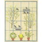 フレメ クロスステッチ 刺繍キット 【窓越しの小鳥】鳥と動物 デンマーク 輸入ししゅうキット