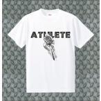 アスリートトライアスロンB半袖Tシャツ メンズファッション ドライシルキータッチ プリントウェア キャラクター