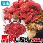 切り落とし馬肉 338g 冷凍 ペットと一緒に食べれ