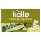 (Kallo) パックあたりの有機野菜の在庫キューブ8 (x4) - Kallo Organic Vegetable Stock Cubes 8