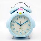 目覚まし時計ノイズなし目覚まし時計ミニ目覚まし時計クリエイティブ目覚まし時計シミュレーションクォーツ目覚まし時計漫画目覚まし時計かわいい(ミルクホワイ