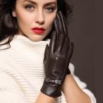 手袋 レディース スマホ手袋 本革 ラム 革 皮 レザー 羊革 防寒 スマートフォン対応 無地 革製 裏起毛 女性用 人気  手ぶくろ  暖かい 春秋冬