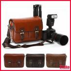 カメラバッグ メンズ レーデイス 男女兼用 ショルダーバッグ メッセンジャー キャンバス クッション レザー 一眼レフ デジタルカメラ 旅行 送料無料