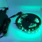 100 V 電源アダプタつき 5050 緑色 LED テープライト (5 cm 0.7 W 単位,非防水,照明器具)