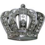 王冠 クラウン エンブレム シルバー 銀色 ラインストーン