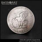 コンチョ ピューター製ネジ式 コイン 1ドルレプリカ硬貨