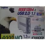 Logitec IEEE1394 & USB 2.0外付型1.3GB対応MOドライブ LMO-H1360FU2