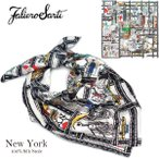 Faliero Sarti ファリエロサルティ New York ニューヨーク ストール スカーフ マフラー ユニセックス フリンジ 100%シルク