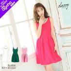 ショッピングミニドレス ドレス キャバ ワンピース 大きいサイズ XS〜4Lサイズ ビジューカラーモチーフ付ノースリーブフレアミニドレス 3/24再入荷