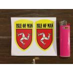 【メール便発送可】マン島ステッカー Isle of Man Yellow Shield Style Stickers #141