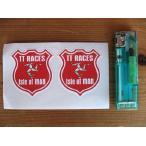 【メール便発送可】マン島ステッカー Isle of Man TT Race Manx Shield Stickers (2枚1セット) #89 マンクス