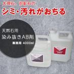 掃除 洗剤 業務用 染み抜き洗剤 大理石・御影石用 4000mL×2本 A液B液のセット 湿布用