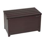 グリーンライフ アルミベンチストッカー84/ABS-84N ブラウン/840x460x485mm