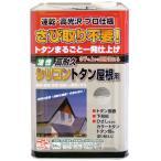 ニッペ 油性塗料 高耐久シリコントタン屋根用グレー 14kg