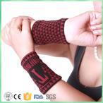 手首用 トルマリン繊維&磁気繊維保温サポーター