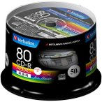三菱ケミカルメディア Verbatim 音楽用 CD-R (48倍速/50枚) MUR80FP50SV1